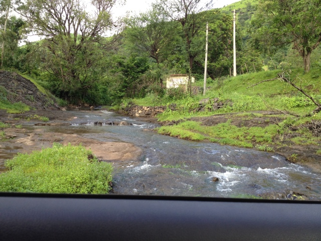 Waterfalls by the road