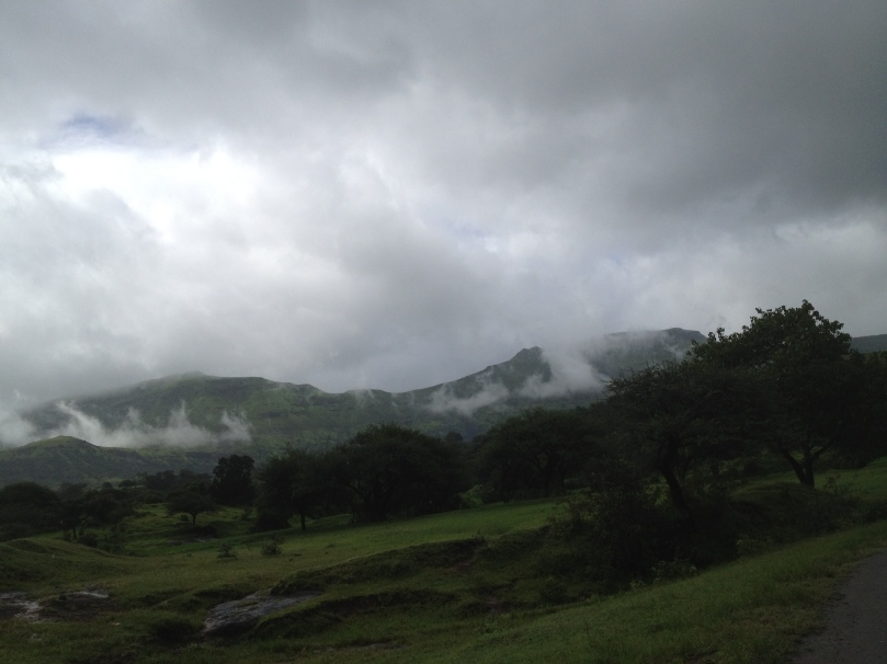 Clouds into the hills