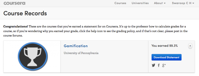 Gamification12 Coursera score