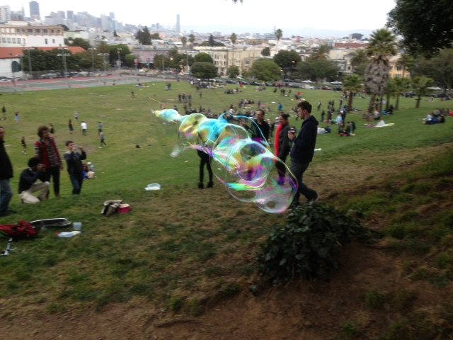 Bubbles in Dolores Park