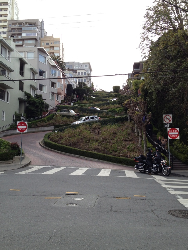 Lombard Street, the famous twisted road